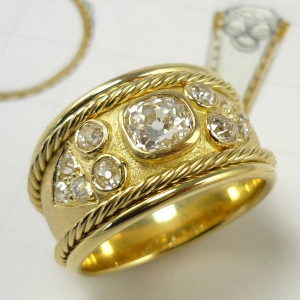 Romanesque Diamond Dress Ring