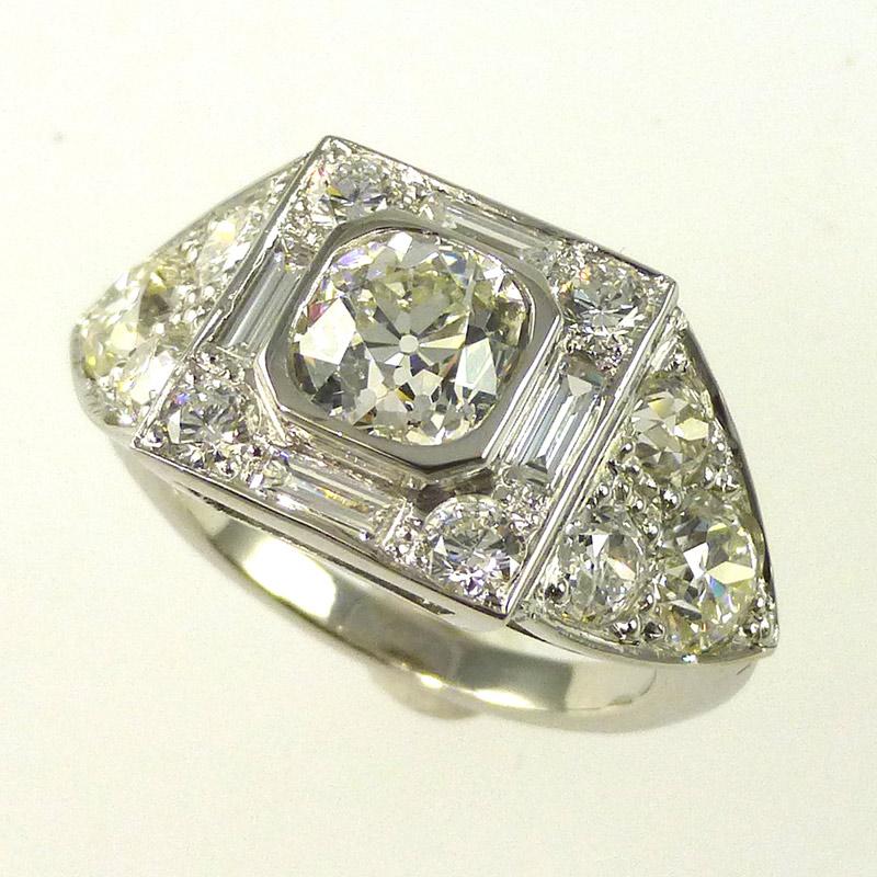 Deco-diamond-engagement-ring Engagement Rings