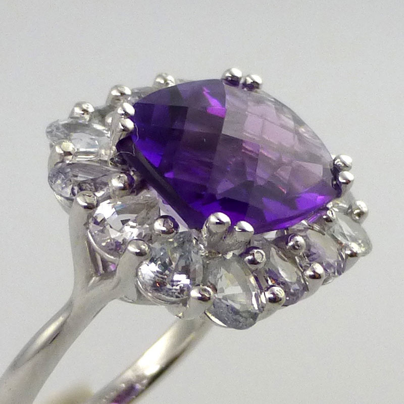 Amethyst-white-sapphire-coc Dress Rings