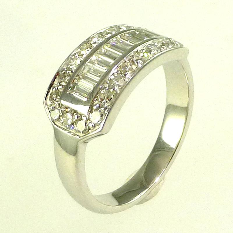 Diamond-three-row-eternity-ring Dress Rings