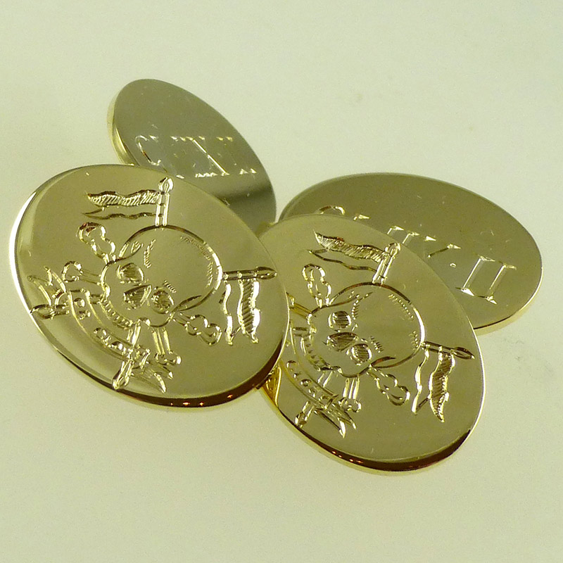 Regimental-Cufflinks Military Silver