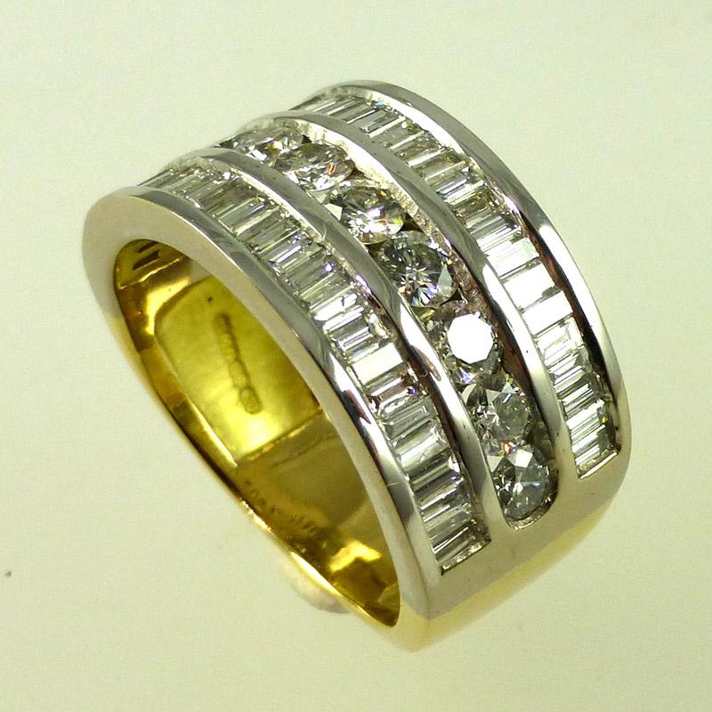 Triple-diamond-eternity-rin Dress Rings