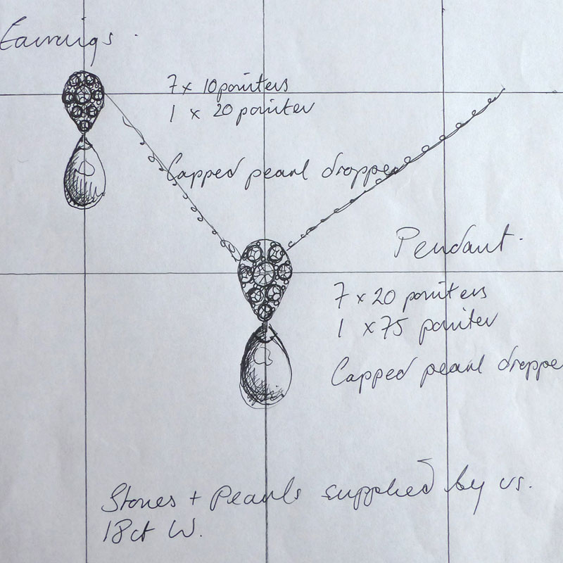 Case-Study-4-Drawing-1 South Sea Pearl and Diamond Earring & Pendant Suite