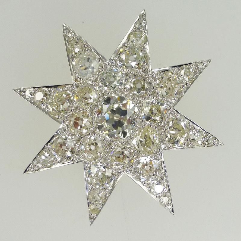 Diamond-Brooch-set-in-18-carat-white-gold Repairs / Remounts