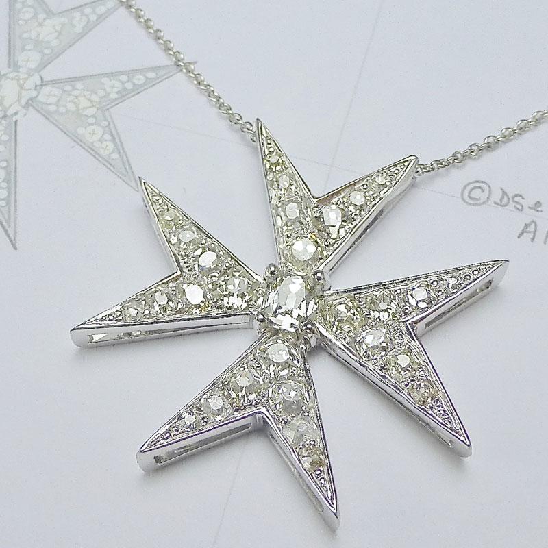 Diamond-set-Maltese-cross Examples of re-design commissions