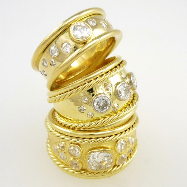 Diamonds-used-to-create-3-Bombe-Rings-600x600 Edinburgh Jewellers - Denzil Skinner & Partners