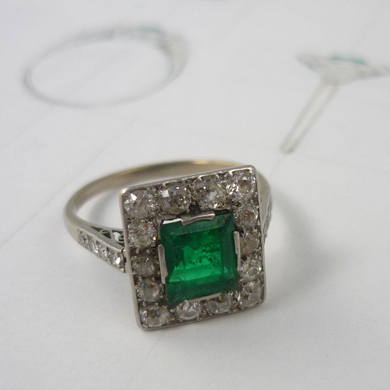 Engagement-ring-befor-remounting Repairs / Remounts