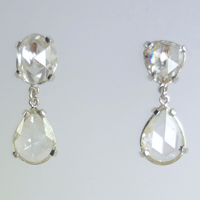 Rose-cut-diamond-become-drop-earrings Examples of re-design commissions