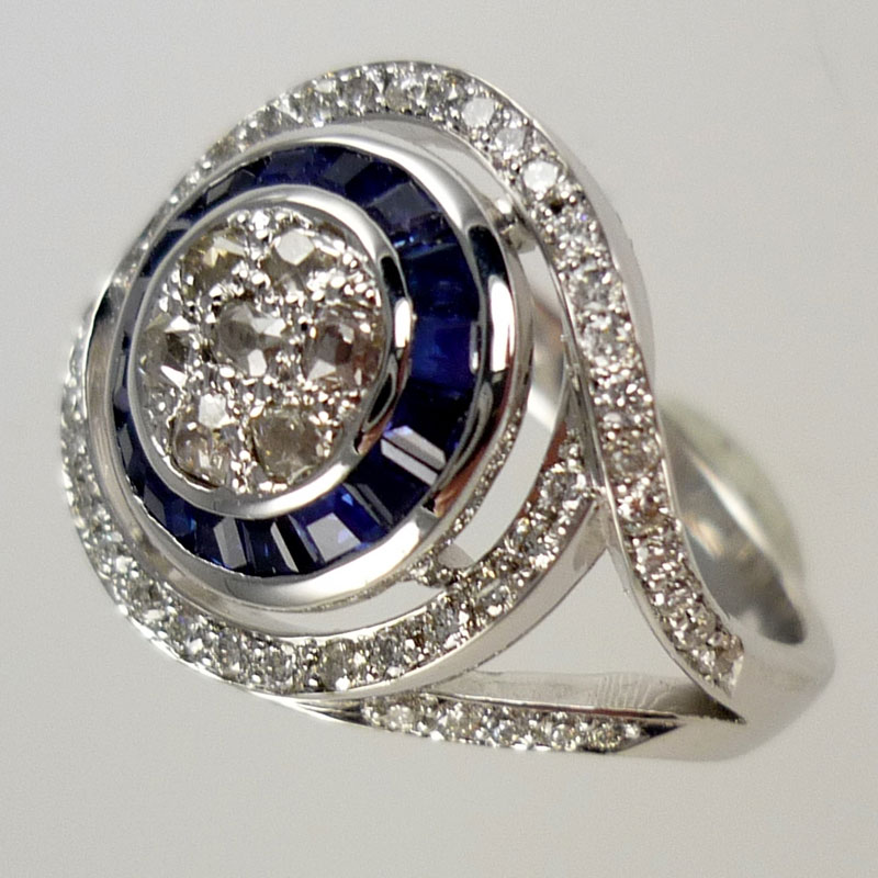 Unusual-dress-ring-with-every-sapphire-being-re-cut Dress Rings