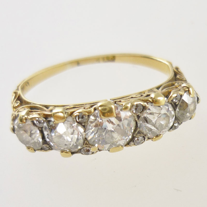 Worn-out-Victorian-carved-set-diamond-ring Repairs / Remounts