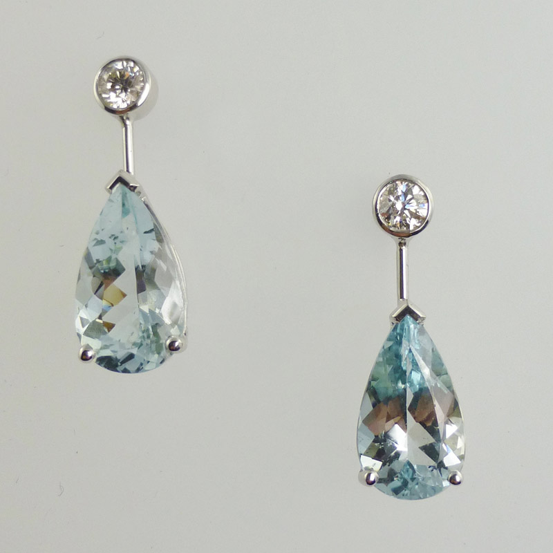 Pear-shaped-aquamarine-and-diamond-drop-earrings Earrings